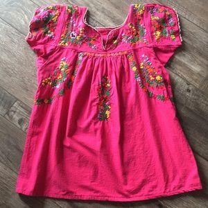 Oaxacan San Antonino Embroidered blouse
